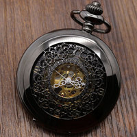 Women Men Watch Retro Bronze Pocket Watch With Gift Bag Leather Strap Gift Box And Necklace