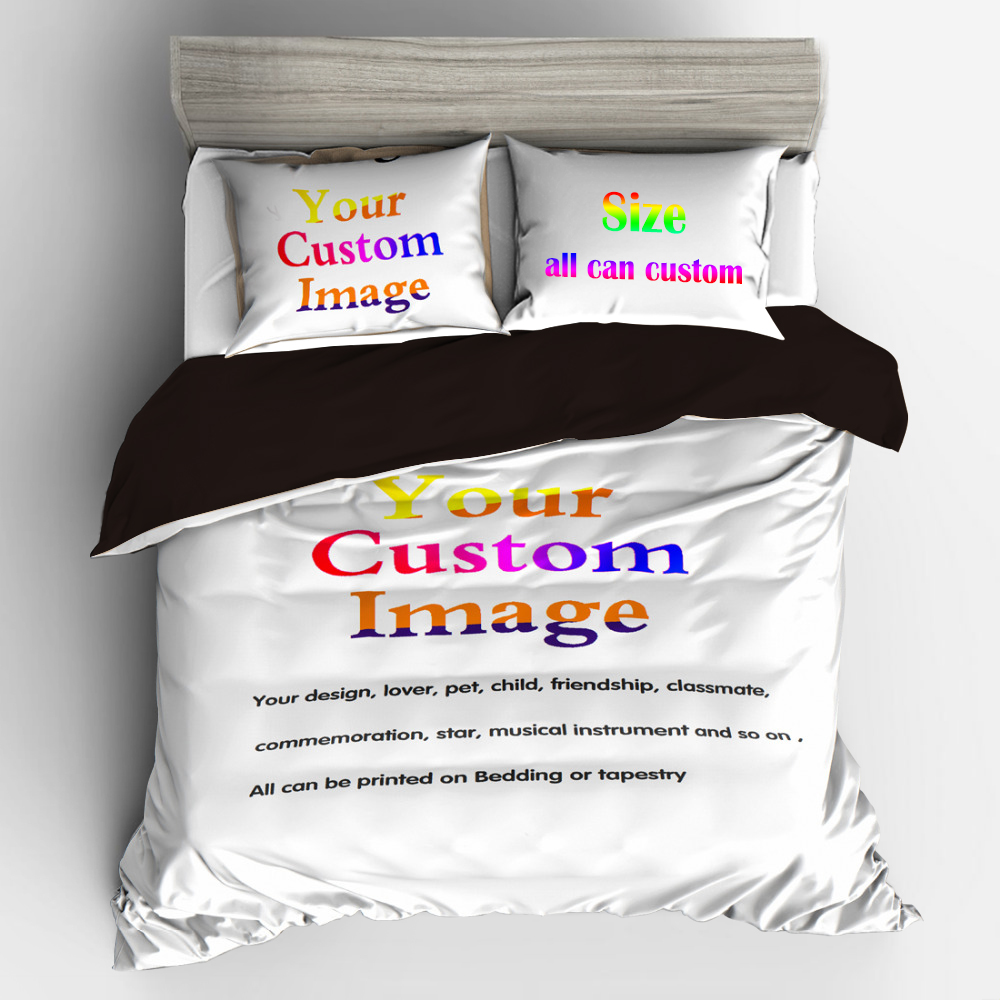 3D Digital Printing Custom Bedding Set Submit Any Artwork Design Customized Picture Queen King Size Dropshipping3D Digital Printing Custom Bedding Set Submit Any Artwork Design Customized Picture Queen King Size Dropshipping