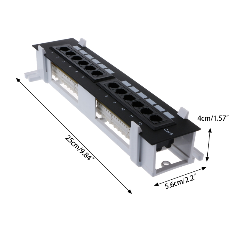 Image 3 - Network Tool Kit 12 Port CAT6 Patch Panel RJ45 Networking Wall Mount Rack Mount Bracket-in Networking Tools from Computer & Office