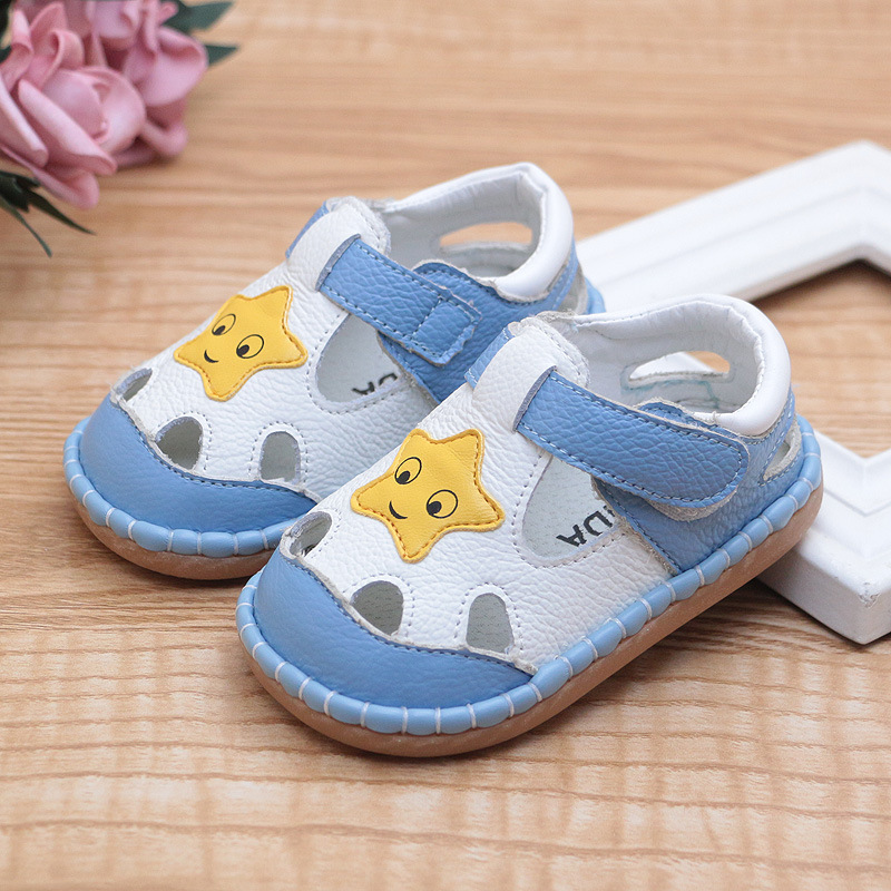 New Baby Sandals Genuine Leather Baby Girls Shoes Soft Soles Bebe Boys Sandals 1-3y Baby Barefoot Sandals
