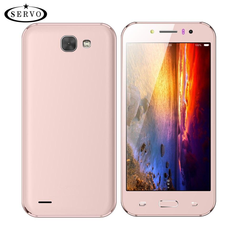Original SERVO A57 5,0 zoll telefon Spreadtrum7731C Quad Core 1,3 GHz ROM 4 GB Dual Sim Smartphone 5.0MP GPS GSM WCDMA Mobil handys