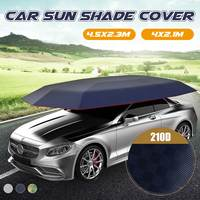 4.5x2.3M/4.2x2.1M Car Cover Tent Remote Controlled Car Sun shade Umbrella Outdoor Roof Cover UV Protection Kits Without bracket