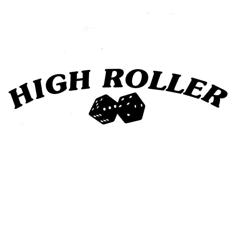 20 3cm5 1cm high roller die dice las vegas craps car stickers car styling decoration black sliver c8 0789 in car stickers from automobiles motorcycles on