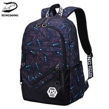 c5a9e6cfd2f19 Fengdong 2018 Mode Männer Rucksack Beste Reise Anti Diebstahl Laptop  Männlichen Rucksack Junge Schule Schulter Tasche