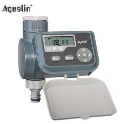 Pantalla LCD impermeable riego válvula solenoide de temporizador jardín temporizador de agua controlador de riego de jardín con multifunción #21004