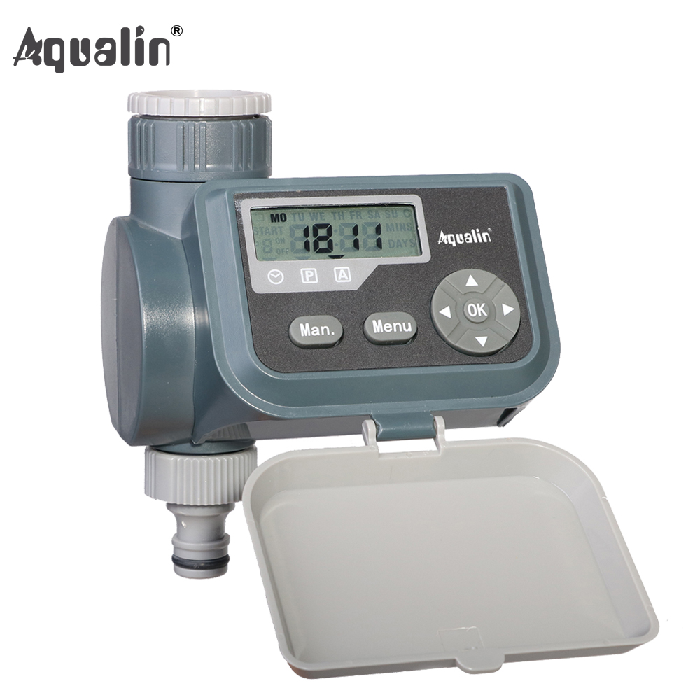 Waterproof LCD Screen Watering Timer Solenoid Valve Garden Water Timer Garden Irrigation Controller with Multifunction #21004A