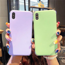 for iphone XS max XR X Candy color Soft phone Case For iphone 8plus 7plus 6SP 7 8 6 6S Simple Solid Color shockproof case(China)
