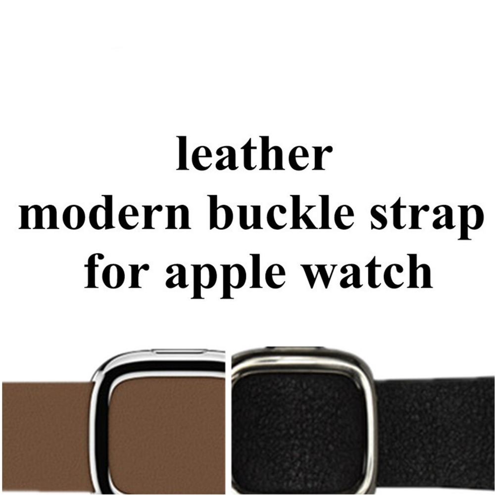 leather modern buckle watch strap for apple watch band 42mm 38mm Genuine Leather bracelet watchband for iwatch 3/2/1 black blue istrap black brown red france genuine calf leather single tour bracelet watch strap for iwatch apple watch band 38mm 42mm