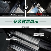 Tonlinker 4 PCS DIY Car styling NEW stainless steel modified special threshold cover case Stickers for JEEP cherokee accessories