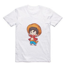 Cartoon Luffy/Tony Chopper/Nico Robin/Franky/Brook Round Collar Street Men's T-Shirt Anime Modal Summer Top(China)