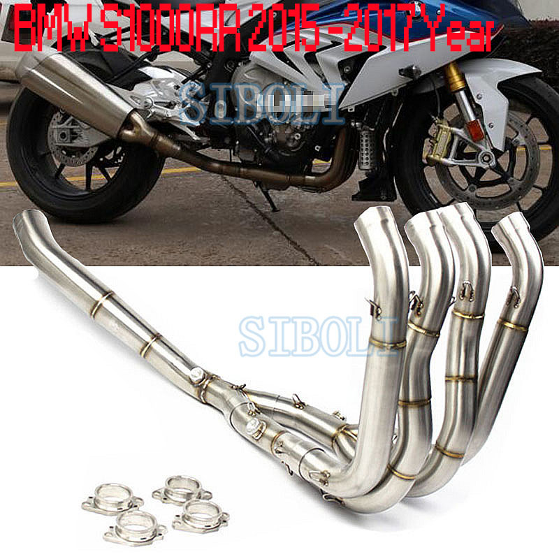 <font><b>S1000R</b></font> Motorcycle Full <font><b>Exhaust</b></font> System Link Connect Header Pipe Slip-On Muffler Tube For BMW S1000RR 2010 2011 2012 2013 2014-18 image