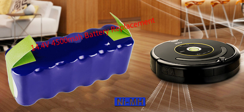 4500mah 14 4v Ni Mh Battery For Irobot Roomba 500 510 530