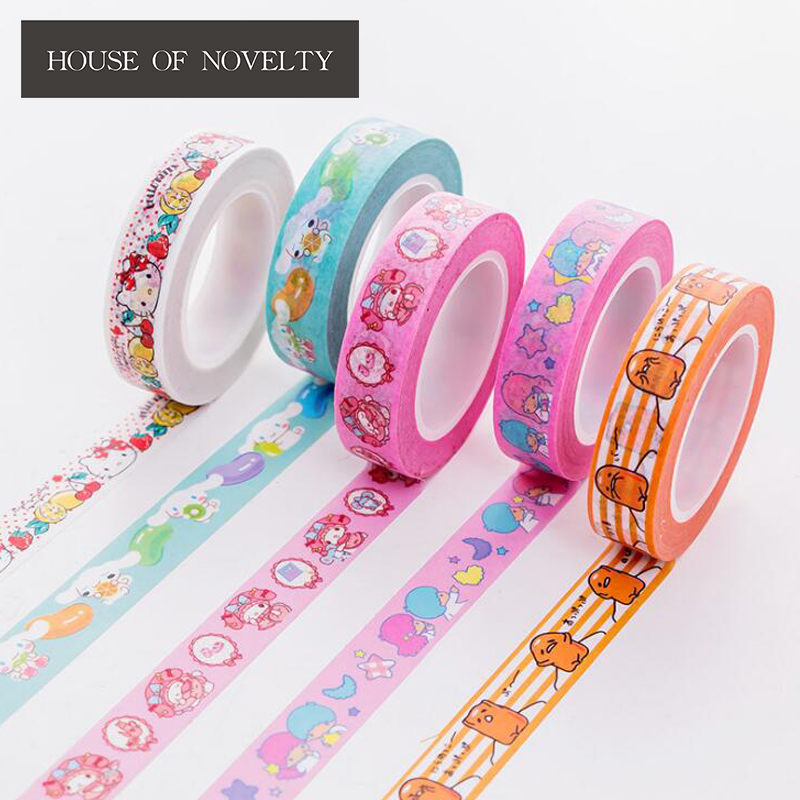 Cinnamoroll Twin Star Melody Washi Tape Adhesive Tape DIY Scrapbooking Sticker Label Masking Craft Tape