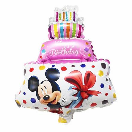 Jumbo Size 86*60cm Mickey Minnie Cake Foil Balloons Birthday Party Supplies Helium Balloons Kids Classic Toys Globos