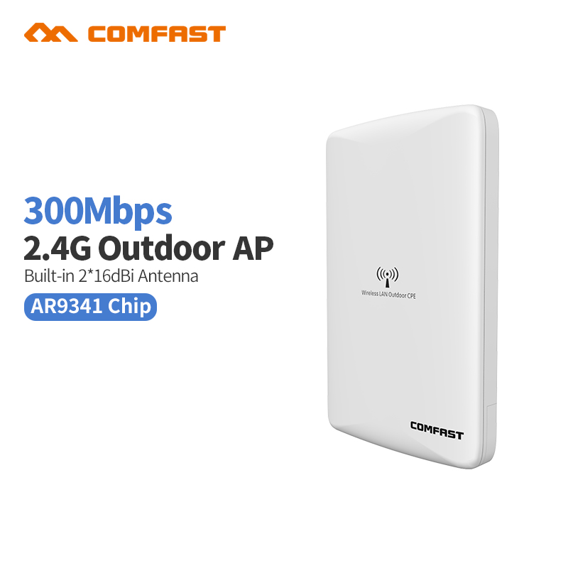 все цены на 300mbps 2.4G Wireless outdoor Ap router wi fi Access Point Repeater Poe WIFI Coverage Bridge cpe 802.11b/g/n COMFAST WA300 онлайн