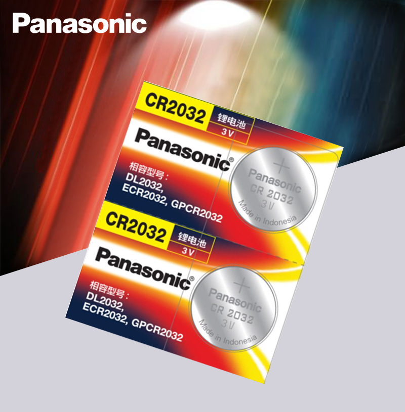 <font><b>Panasonic</b></font> Original 2pcs/lot cr <font><b>2032</b></font> Button Cell Batteries 3V Coin Lithium Battery For Watch Remote Control Calculator cr2032 image