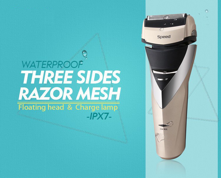 The new men reciprocating three-pole electric shaver the reciprocating pump