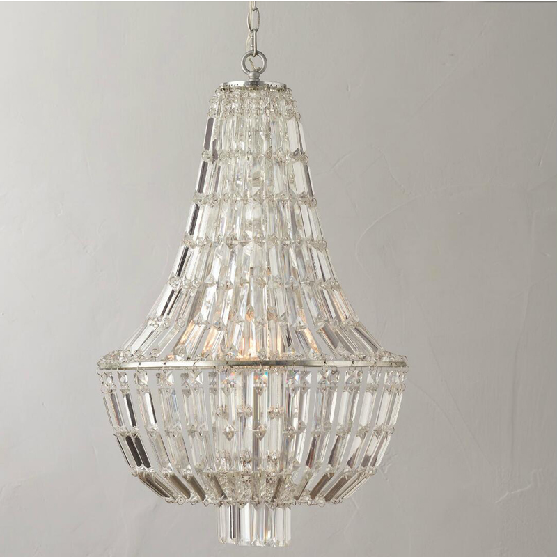 T Retro American Crystal Bedroom Pendant Light For Dining Room Restaurant Bedroom Study Room Living Room Hotel LED E14 bulbs r54 hotel room