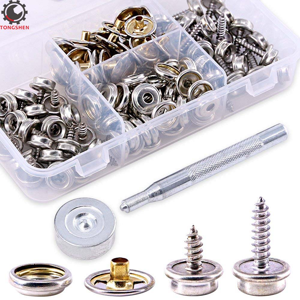 Sockets 30x Stainless Steel 3//8/'/' Screw Snap Studs Buttons Covers Fasteners