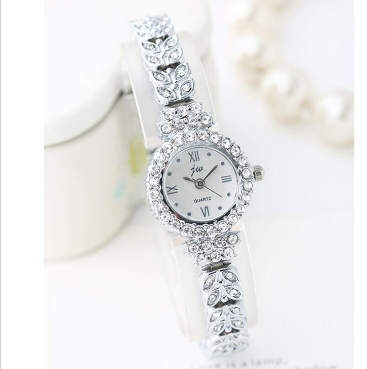 Women Watches Luxury Crystal Bracelet Gemstone Wristwatch Dress Watches Fashion  bracelet watch gift clock dress wristwatches