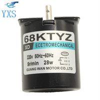 68KTYZ 28W AC 220V Permanent Magnet Synchronous Gear Motor 2 5 5 10 15 20 RPM
