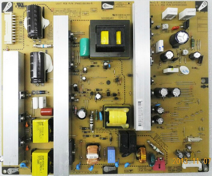 power panel REV 1.5 EAX61415301/10 EAY60912401 PSPF-L911A 3PAGC10014A-R is used 42pfl9509 power panel 2300kpg109a f is used