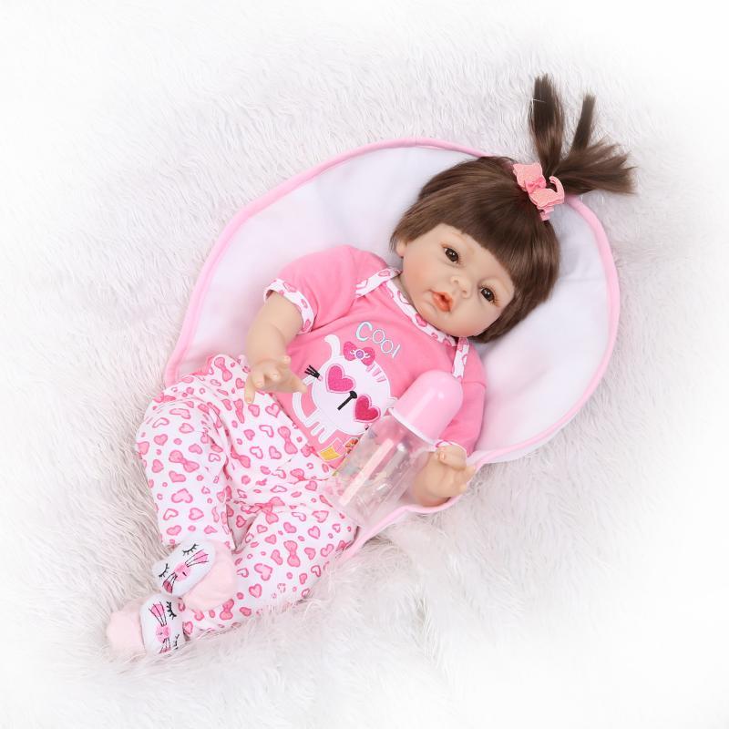 55cm Soft Silicone Reborn Doll Lovely Baby Girl Bebe Bonecas Children Toys Bebe Reborn Doll Kids Gifts55cm Soft Silicone Reborn Doll Lovely Baby Girl Bebe Bonecas Children Toys Bebe Reborn Doll Kids Gifts