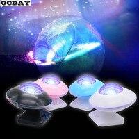 OCDAY Starry Sky Aurora LED Music Speaker Novelty LED Light Flashing Projector Lamp For Kids Children