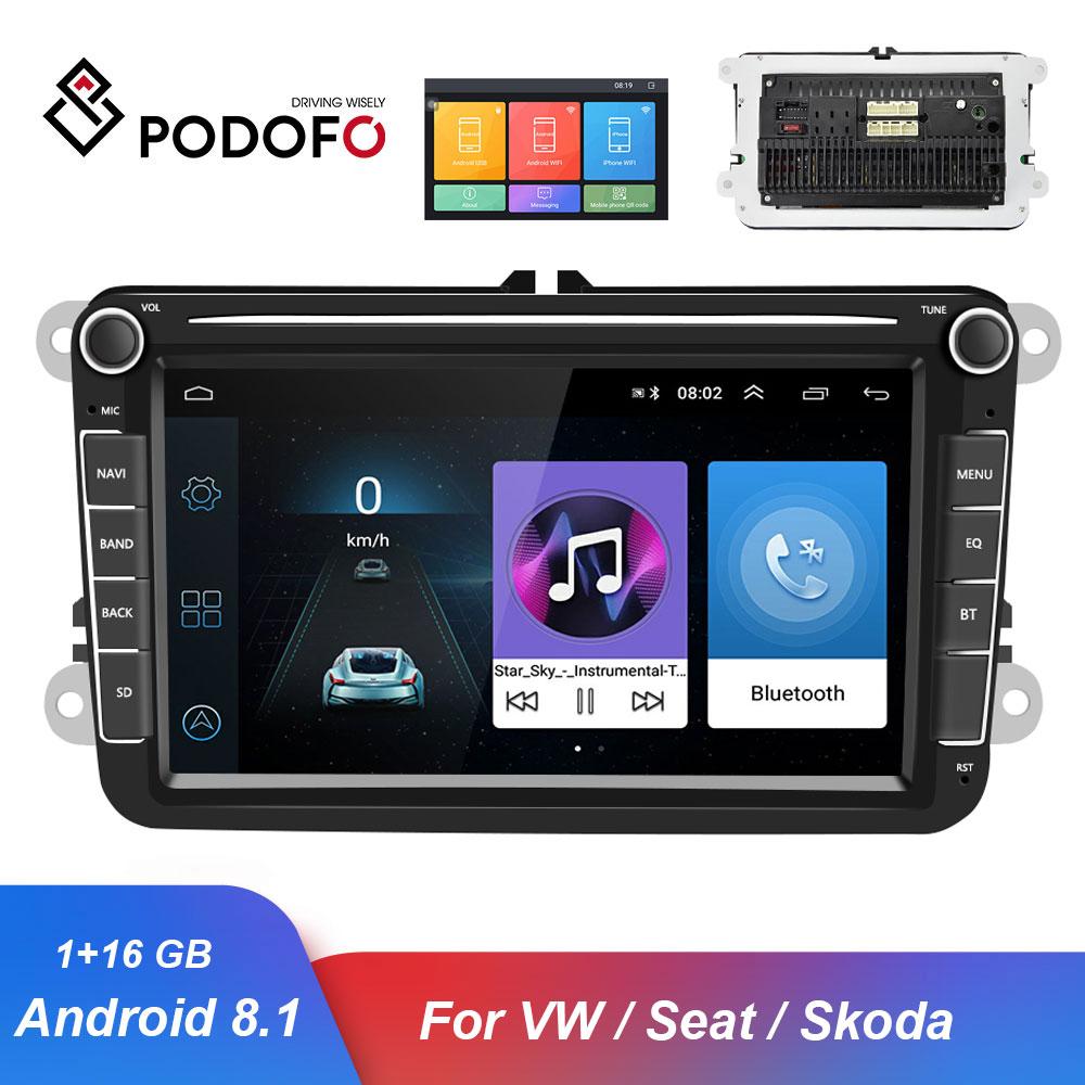 Podofo GPS Car Multimedia Player Android 8.1 Auto Radio 2 Din Audio Stereo Bluetooth Car Radios For Seat/Skoda/Passat/Golf/PoloPodofo GPS Car Multimedia Player Android 8.1 Auto Radio 2 Din Audio Stereo Bluetooth Car Radios For Seat/Skoda/Passat/Golf/Polo