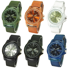 Hot Sales 2015 hot Men's Watch Fashion Military Army Style Nylon Band Sports Analog Quartz Wrist Watch  1MBF 6T2W