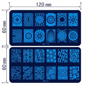 Image 4 - Plantillas para estampación de uñas JR, 30 Uds., de acero inoxidable, 30 estilos de imágenes, herramienta para estampado de uñas Nail Art para manicura