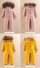 Çocuk siyam aşağı ceket erkek ve kız dış aşağı ceket aşağı ceket kış yastıklı kayak takım elbise