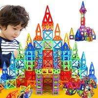 164pcs 64pcs Mini Magnetic Designer Construction Set Model Building Toy Plastic Magnetic Blocks Educational Toys For