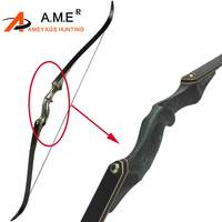 Archery Hunting Take Down 60 inch Recurve Bow Right Hand Black Color Gift Arrow Rest Shooting 30 60bls
