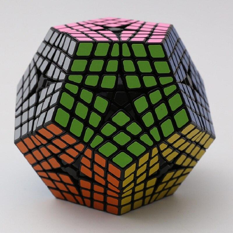 2017 nouveau Shengshou 6x6x6 Megaminx noir/blanc torsion Puzzle PVC & mat autocollants Cubo professionnel magique Puzzle vitesse classique jouets