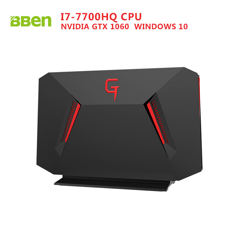 Bben GB01 Desktop Mini PC Windows 10 Intel I7 7700HQ CPU GDDR5 6GB NVIDIA GEFORCE GTX1060