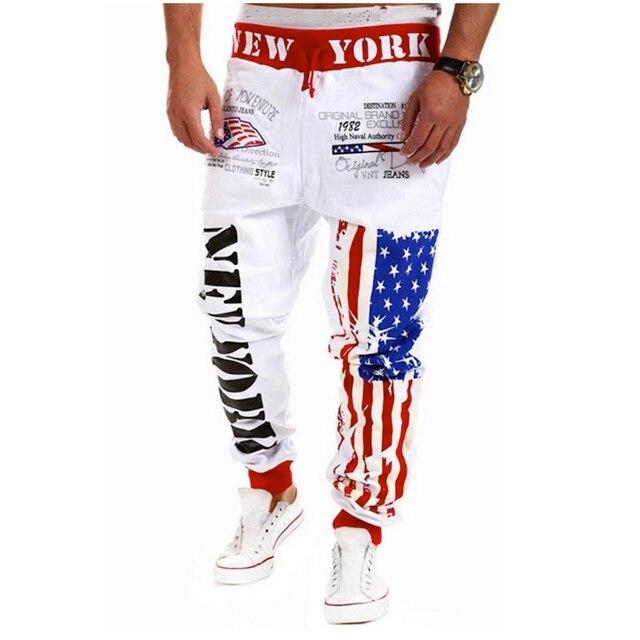 2016 new arrival trousers male sportswear pants letter print New York letters printing comfortable sweatpants harem pants men