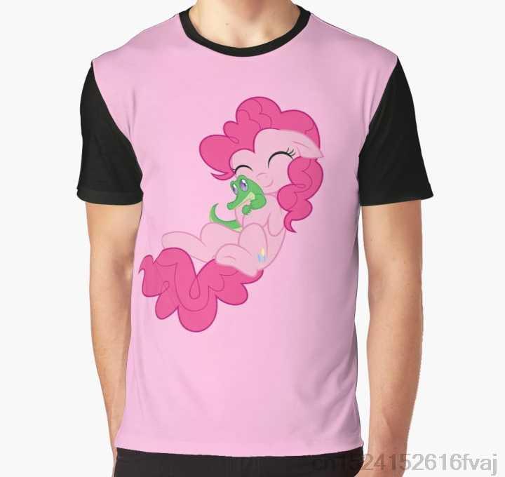 Całym drukuj kobiety T Shirt mężczyźni Funny tshirt Pinkie i kleiste graficzny T-Shirt