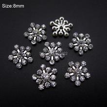 10pcs Clear rhinestones glitter Snow flakes nail design decorations nail art tools DIY accessories AM364