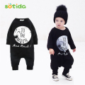 2016New Winter&Autumn Unisex Baby Boys&Girls Long Sleeve Rompers Baby Clothes No Sleep Letter/To The Moon Newborn Romper 0-3year