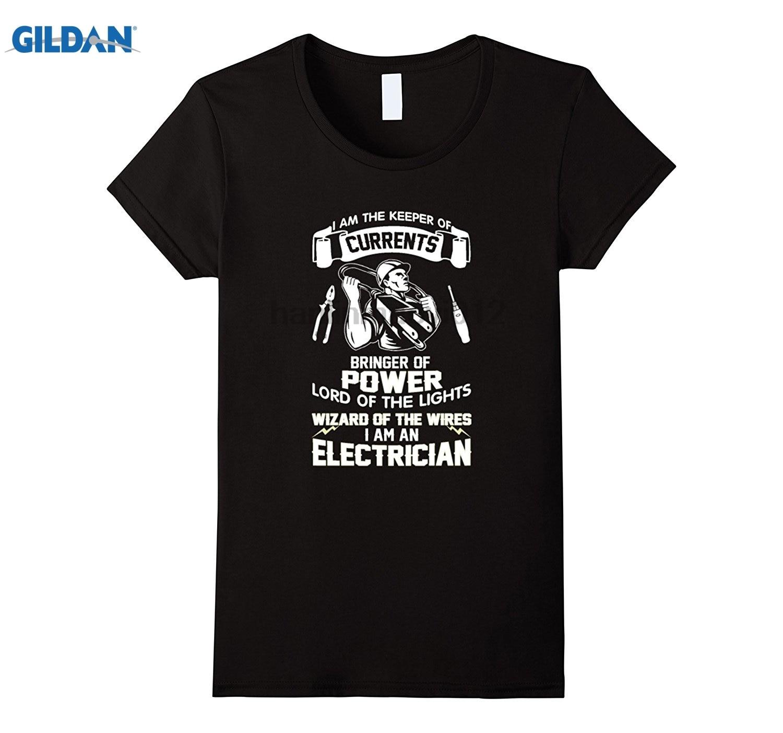 GILDAN I am the keeper of currents bringer of power Tshirt Hot Womens T-shirt