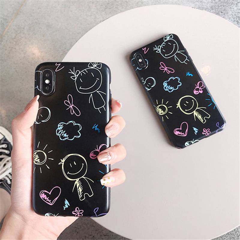 100pcs Phone Case For iPhone X 8 7Plus 6S XS MAX Soft Silicone TPU IMD Lovely Girls Boys Painted Back Cover For iPhone6 XR Case100pcs Phone Case For iPhone X 8 7Plus 6S XS MAX Soft Silicone TPU IMD Lovely Girls Boys Painted Back Cover For iPhone6 XR Case