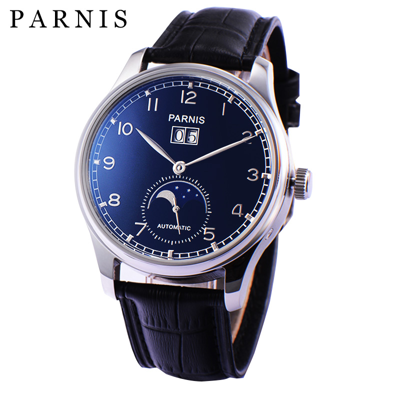 Men-Watch-Parnis-43mm-Mechanical-Wristwa