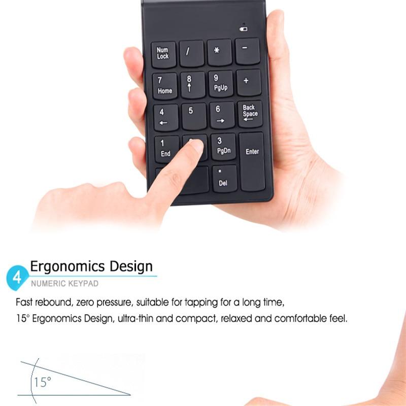2017 New 5PCS Ultra Slim Mini Wireless Keyboard USB Numeric Keypad 18Keys 2.4G Mini Digital Keyboard High Quality For PC Laptop 19 key usb numeric keypad for laptop notebook black