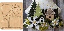Maison bricolage en bois die/Scrapbook moule/outil de coupe die/YT0169