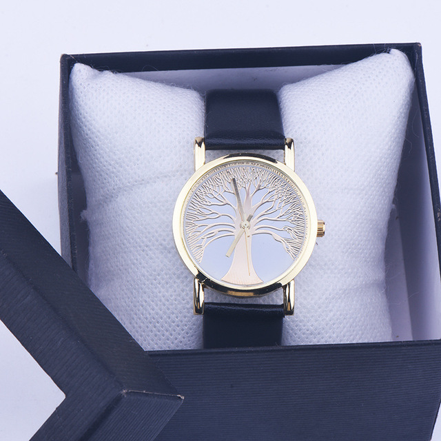 Fashion Tree Of Life Watch Women Lovely Watches Hot Sale Clocks Hours Girls Luxu