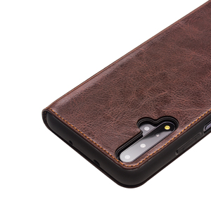 Image 4 - QIALINO יוקרה אמיתי עור Flip Case עבור Huawei Honor 20 טהור בעבודת יד כיסוי עם כרטיס חריץ לכבוד 20 פרו 6.26 אינץ