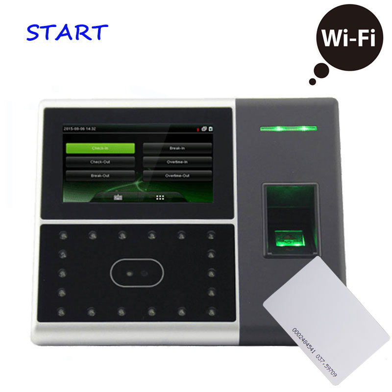 Biometric Face Recognition And Time Clock Access Control Machine IFace702 RFID/EM Card Time Attendance Support WiFi Function