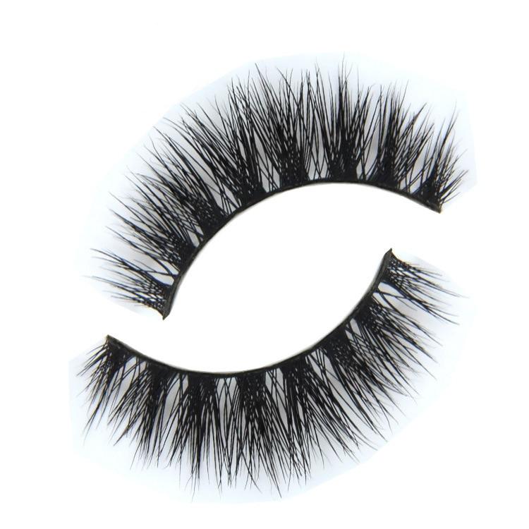 1 par mink svarta naturliga tjocka falska falska ögonfransar ögonfransar makeup förlängning röd-körsbär i samma fabrik produktion