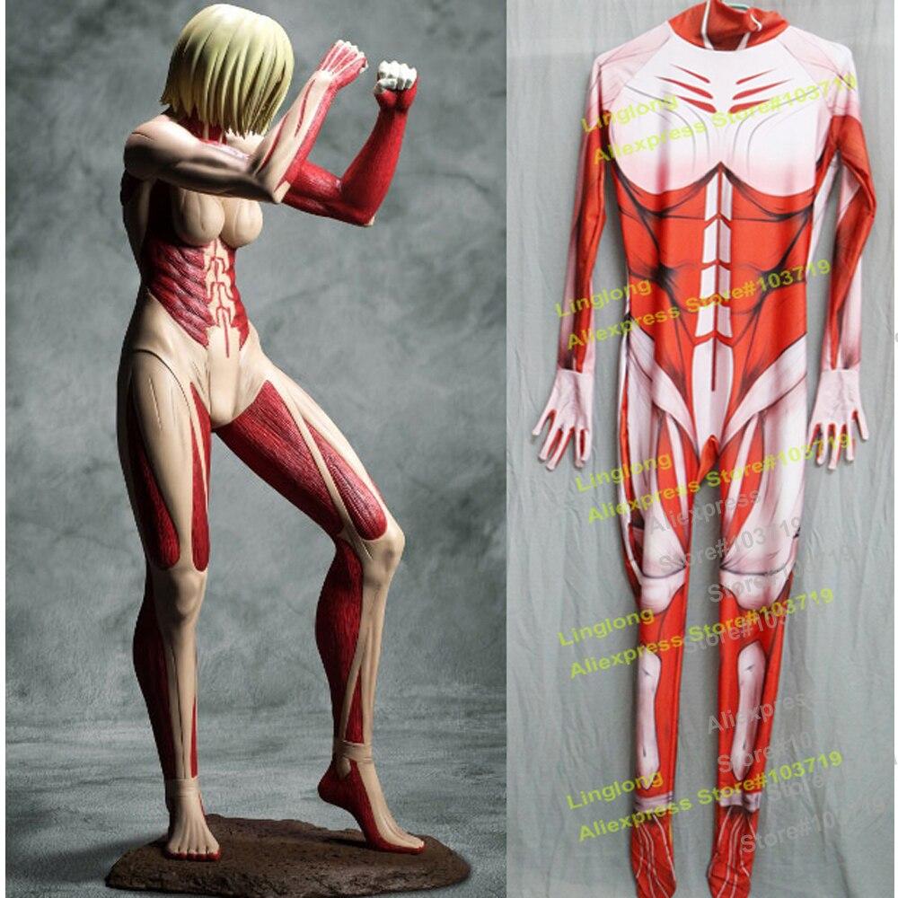 Hero Catcher High Quality Custom Made Attack On Titan Annie Leonheart Cosplay Costume Giantess Zentai Suit